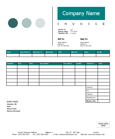 basic invoice template excel 2003 – residers, Invoice examples