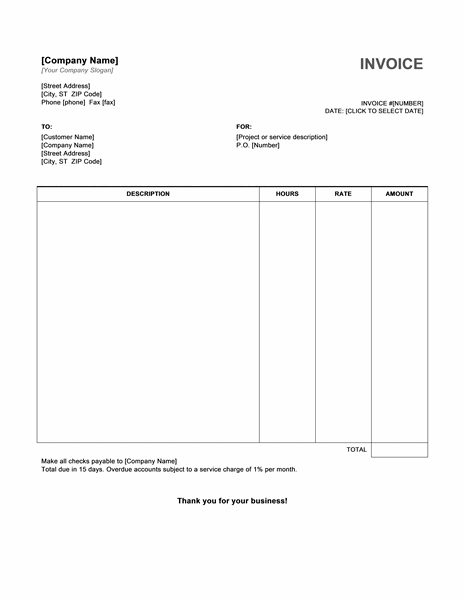 invoice format word - rockcup.tk, Invoice templates