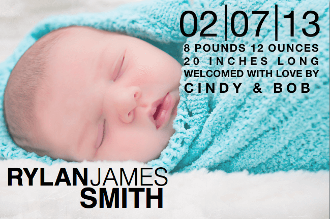 free birth announcements templates