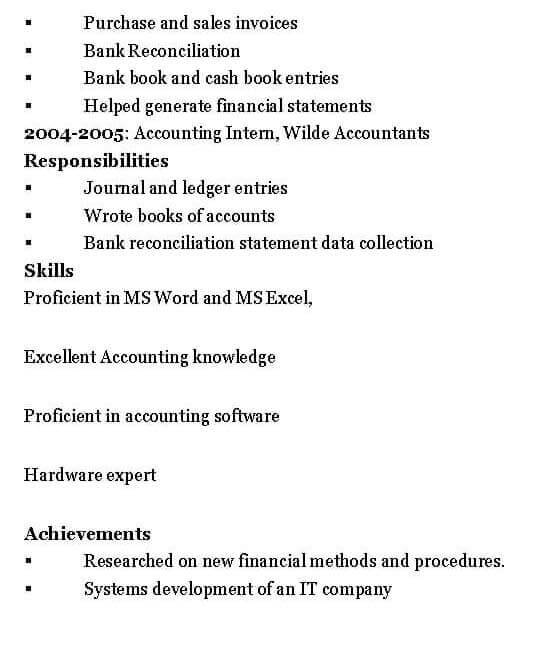 Assistant Accountant Resume Sample