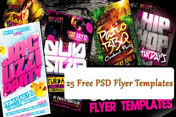 25 Free PSD Flyer Templates to Try This Year