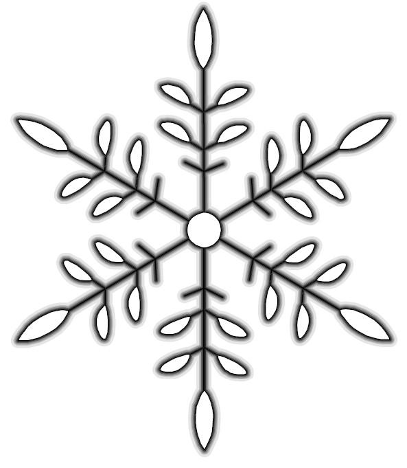 String Art Snowflake - snowflake template
