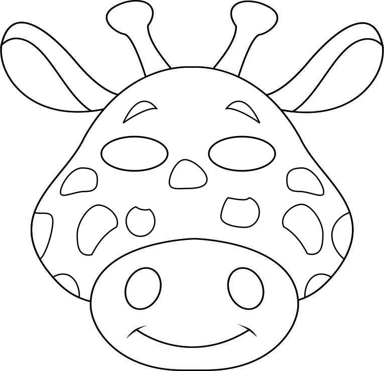 Giraffe Face Template Giraffe Head Coloring Pages Costumes - free printable face masks