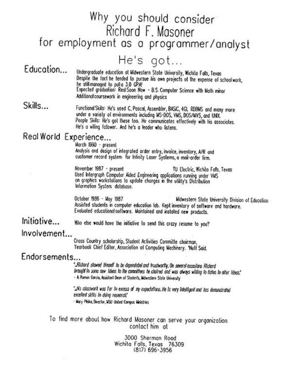 resume dropping tips