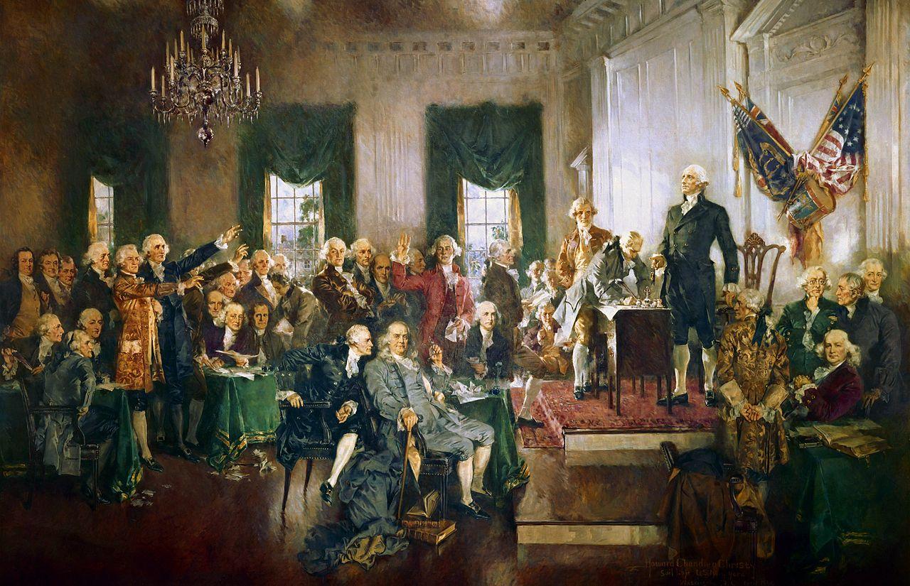 George Washington presiding the Philadelphia Convention, photo The Indian Reporter