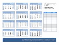 Employee Vacation Request / Calendar Template | Calendars ...