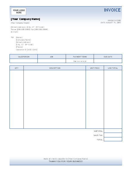 blank invoice template pdf uk | sample customer service resume, Invoice examples