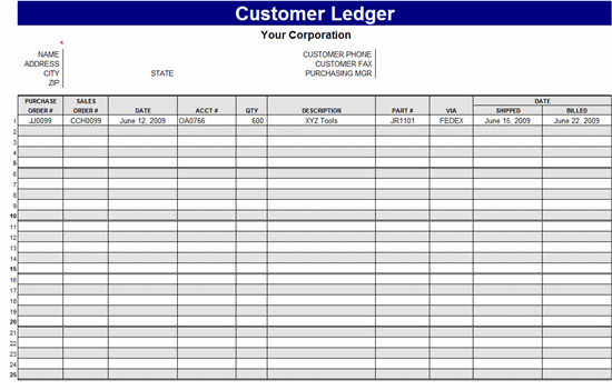 Microsoft Template Accounting Ledger Resume Pdf Download - Accounting ledger template