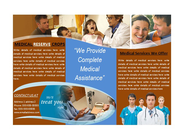Medical Brochure Template for Medical Services Brochures Ready - medical brochure