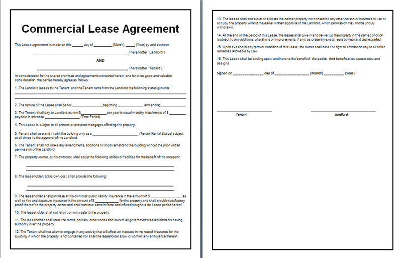 free indiana lease agreement template - sample residential lease agreement