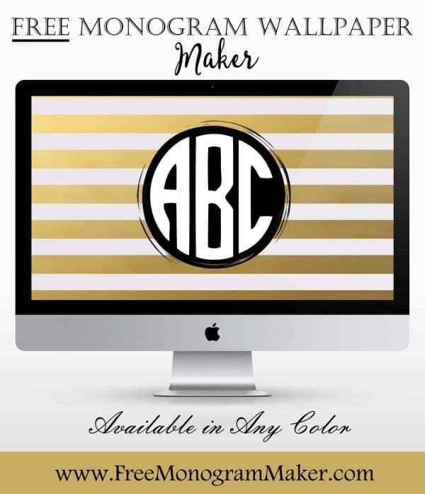 Make Your Own Monogram Iphone Wallpaper Free Monogram Wallpaper Maker