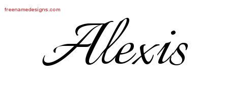 Calligraphic name tattoo designs alexis free graphic