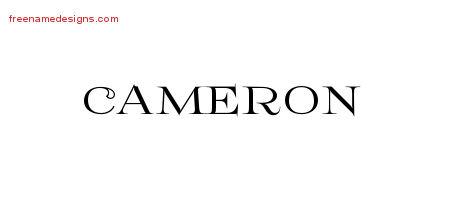 Flourishes name tattoo designs cameron printable free