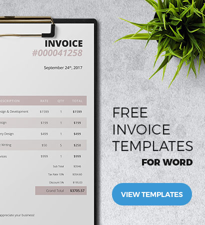 Free Streamlined Invoice Design - Light and Friendly Note - Freenvoices