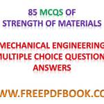 Strength of Materials – Mechanical Engineering Multiple choice Questions Answers