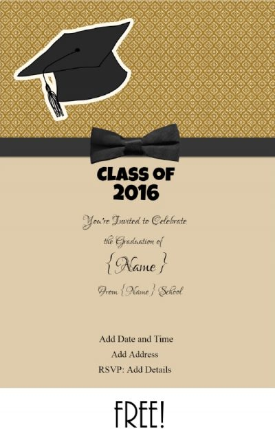 graduation invitations templates