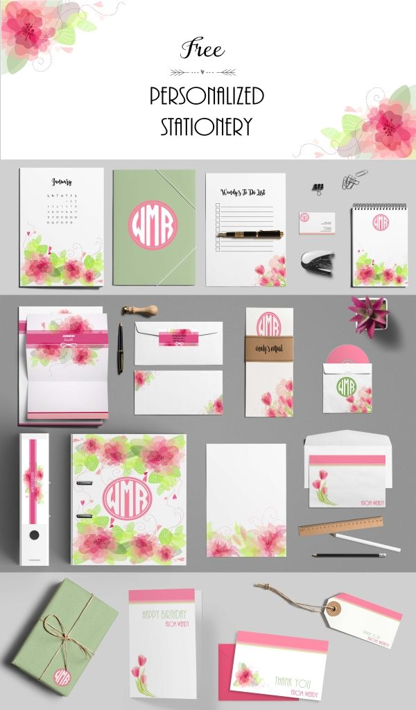 Free Printable Stationery Templates Customize Online  Print at Home