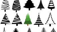Christmas Trees Vectors, Brushes, Shapes, PNG & Picture