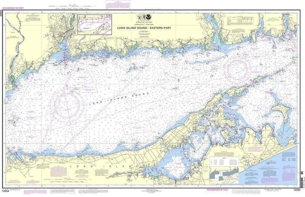 NOAA Nautical Chart Long Island Sound - Eastern