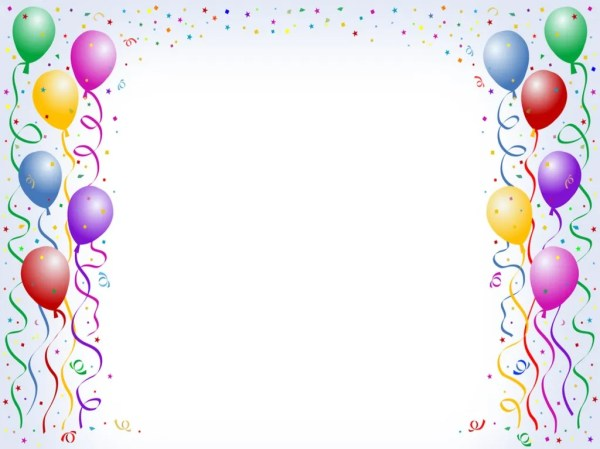 Free Balloon Border Background for Powerpoint Slides. 1024 x 768.Free Happy New Year Coloring Pages