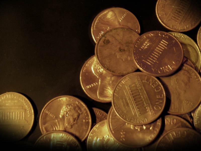 Pennies money PPT Backgrounds, Pennies money ppt photos, Pennies