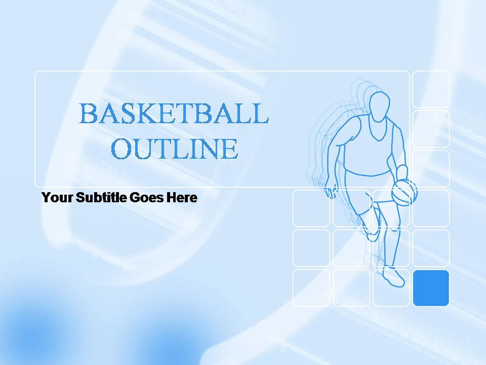 BasketBall Outline PPT Template, BasketBall Outline ppt Background - basketball powerpoint template