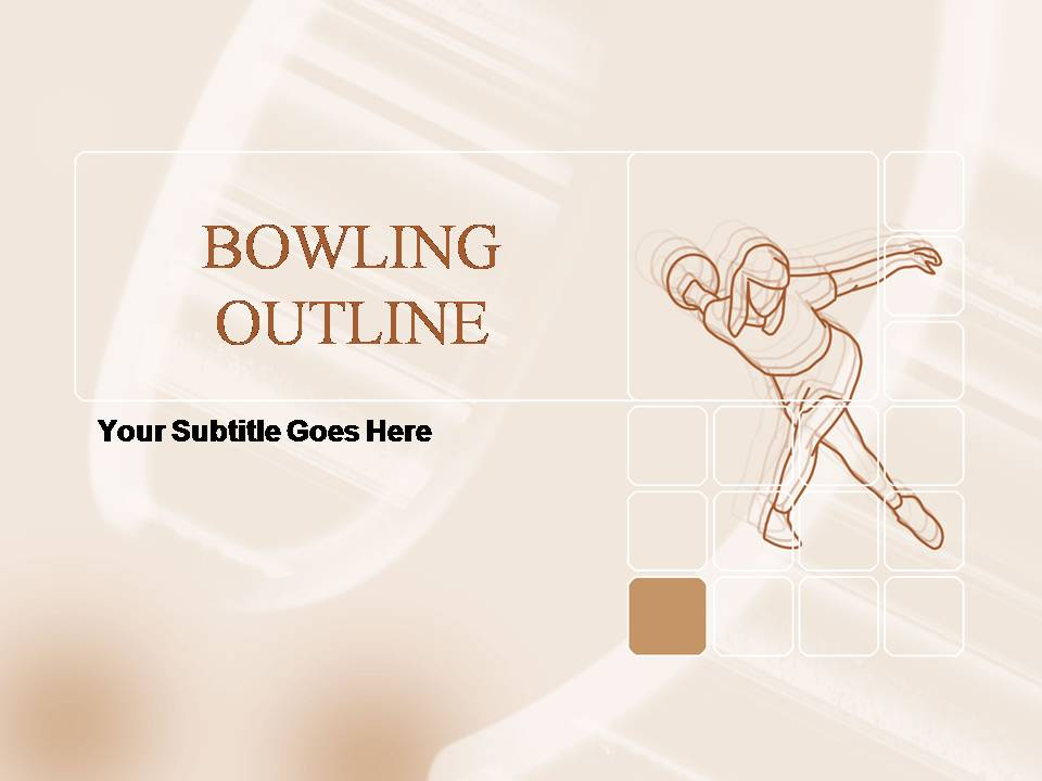 Bowling Outline Templates for Powerpoint Presentations, Bowling