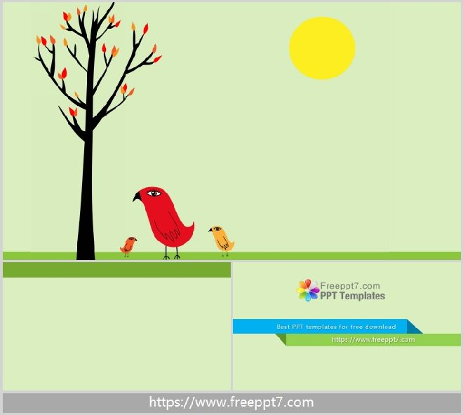 Simple cartoon PowerPoint backgrounds_Free powerpoint templates and