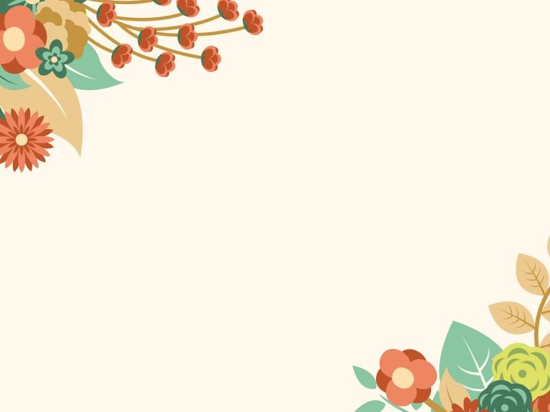 Orange Floral Summer Powerpoint Templates - Border \ Frames - summer powerpoint template