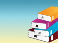 Pile of Books with One Book Powerpoint Templates - Blue ...