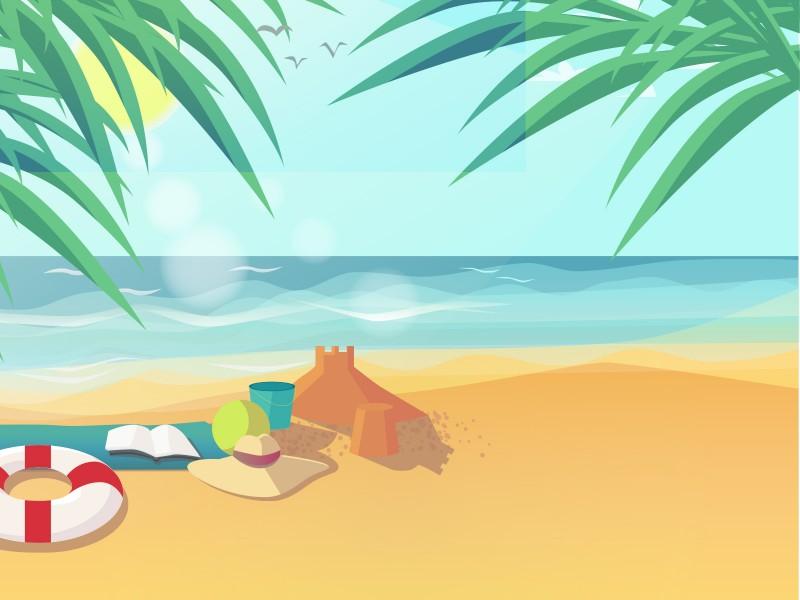 Summer Beach Powerpoint Templates - Blue, Holidays, Nature - Free - summer powerpoint template