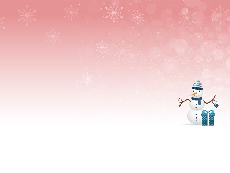 Winter and Snow Man Powerpoint Templates - Christmas, Objects, Red - winter powerpoint template