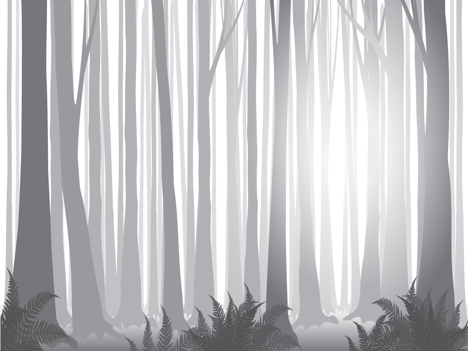 Free Cute Fall Wallpapers Foggy Forest Powerpoint Templates Black Nature White