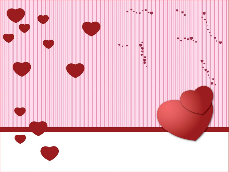 Valentine Days Card Powerpoint Templates - 3D Graphics, Holidays