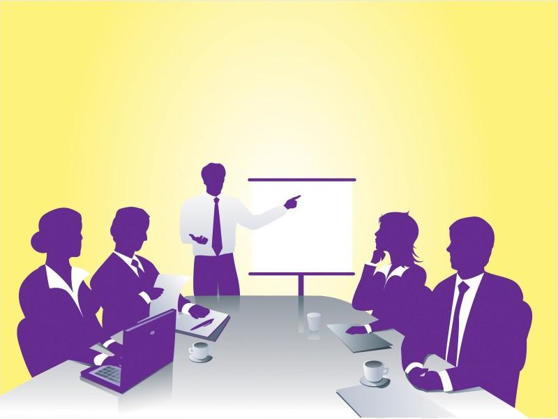Business Meeting Powerpoint Templates - Business  Finance, Fuchsia