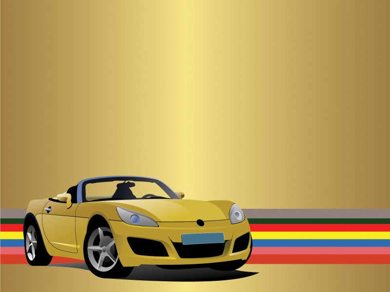 Sport Car Powerpoint Templates - Car  Transportation, Yellow - Free - sports background for powerpoint