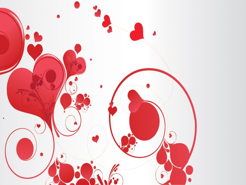 Love Swirls Powerpoint Templates - Love, Red - Free PPT Backgrounds - free powerpoint graphics templates