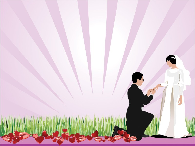 Wedding Proposing Powerpoint Templates - Beauty  Fashion, Fuchsia - love templates