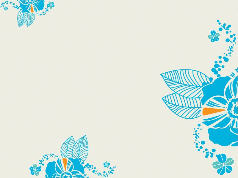 Turquoise Flower Powerpoint Templates - Blue, Flowers - Free PPT