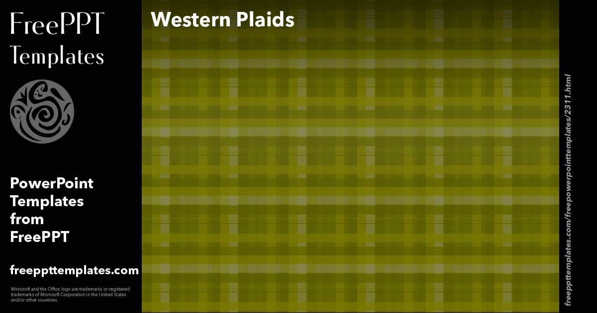 Western Plaids 02 - PowerPoint Templates