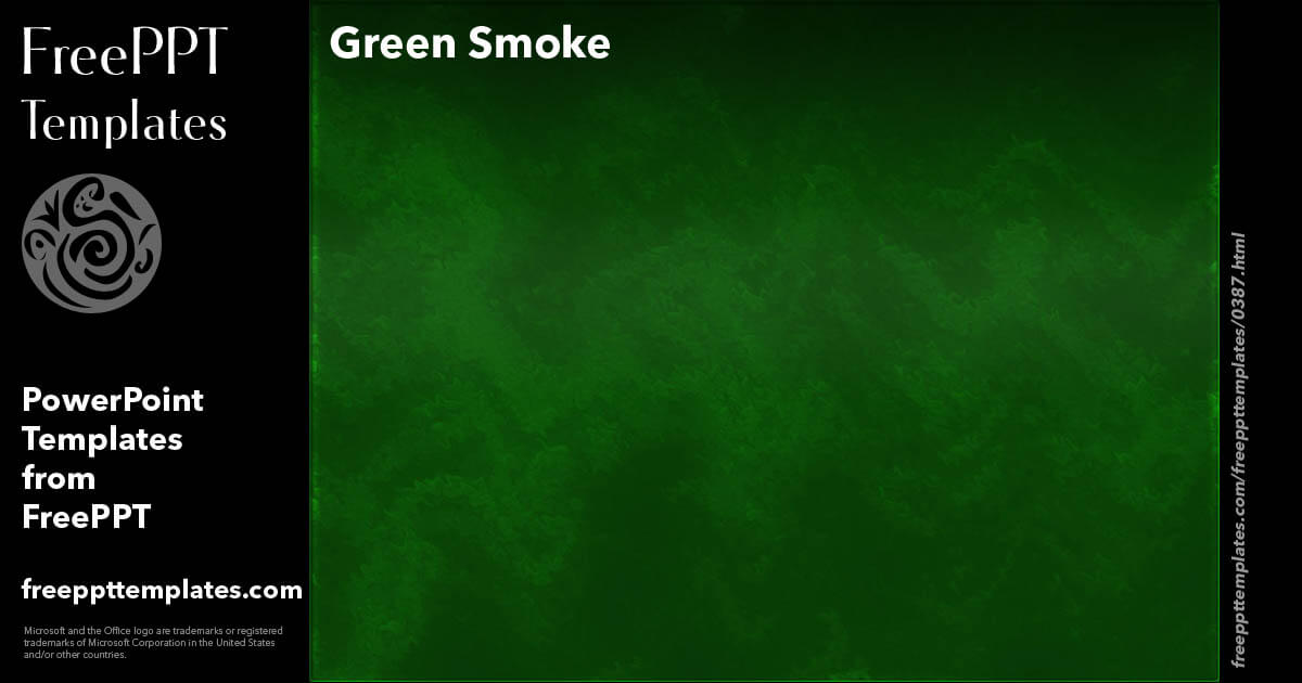 Green Smoke - PowerPoint Templates