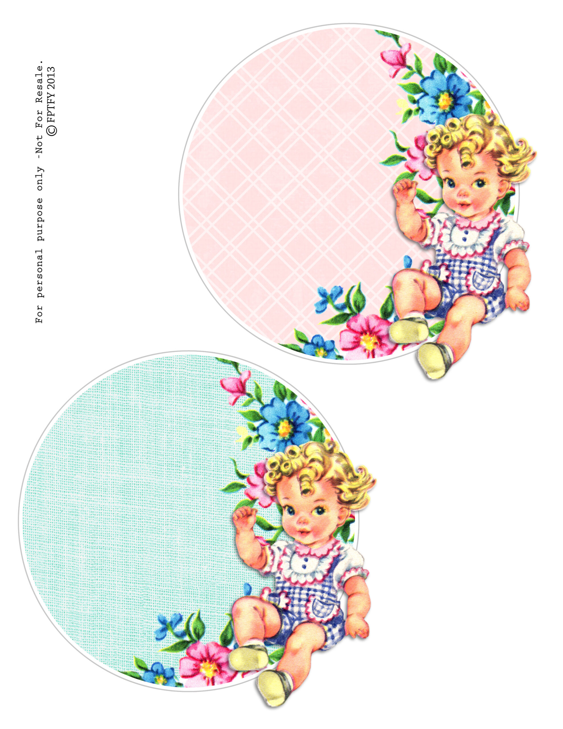 Cute Cupcake Wallpaper Free Vintage Baby Circles Free Pretty Things For You