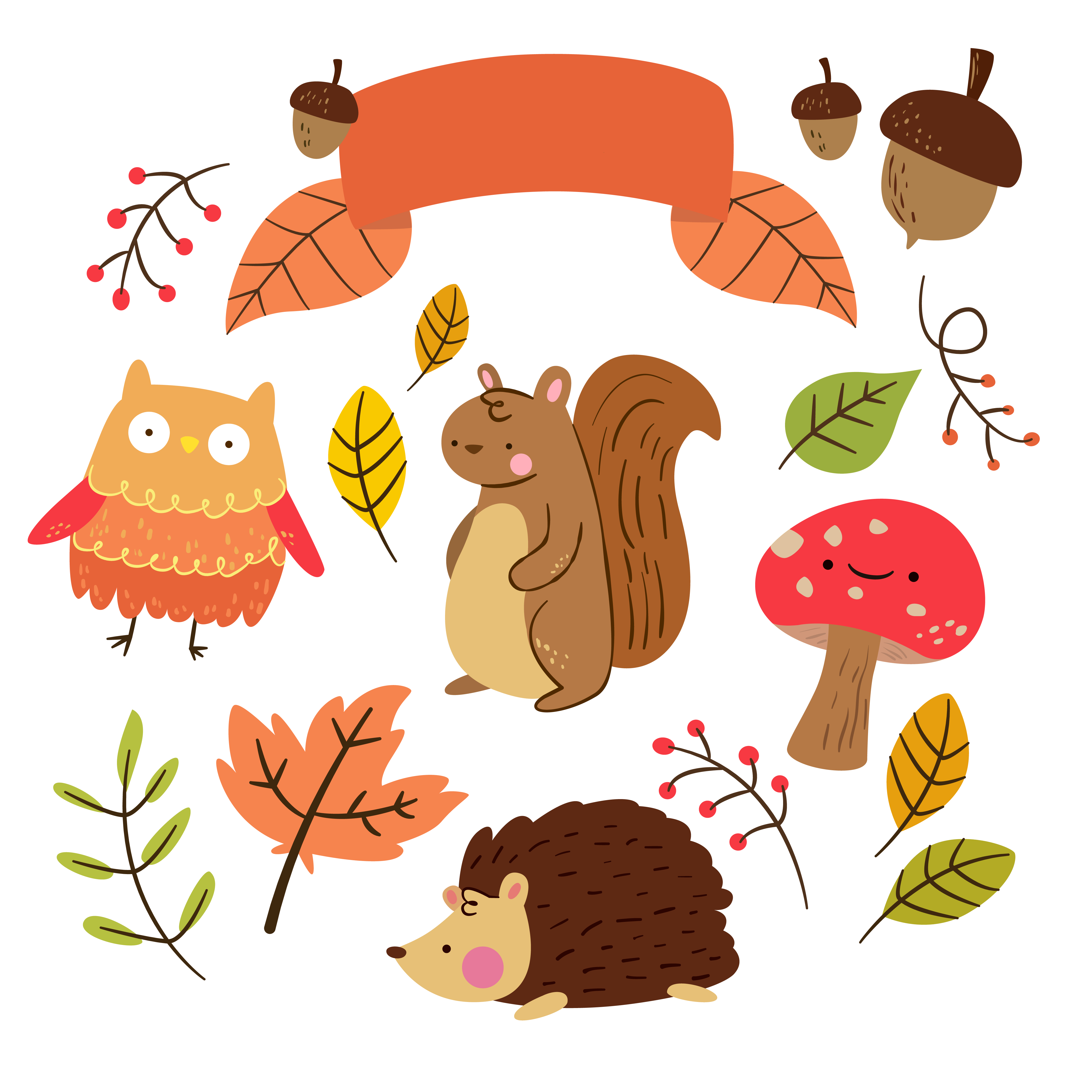 Kawaii Fall Wallpaper Free Critter Autumn Planner Stickers And Clip Art Free