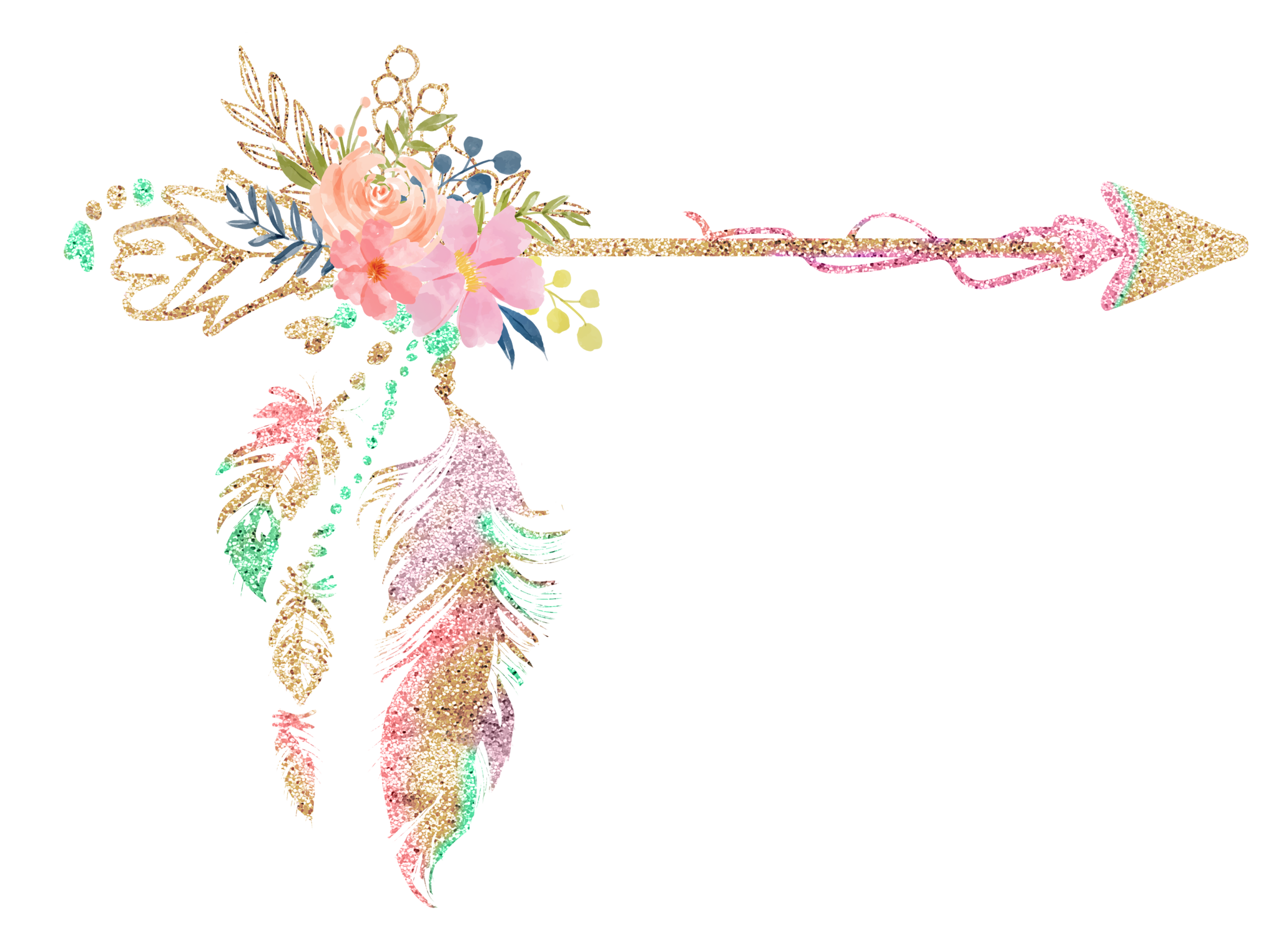 Cute Love Wallpaper Free Download Free Boho Floral Arrow Clipart Free Pretty Things For You