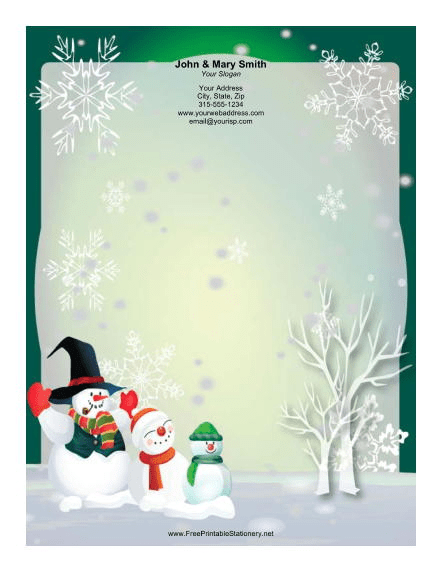 Christmas Borders And Stationery