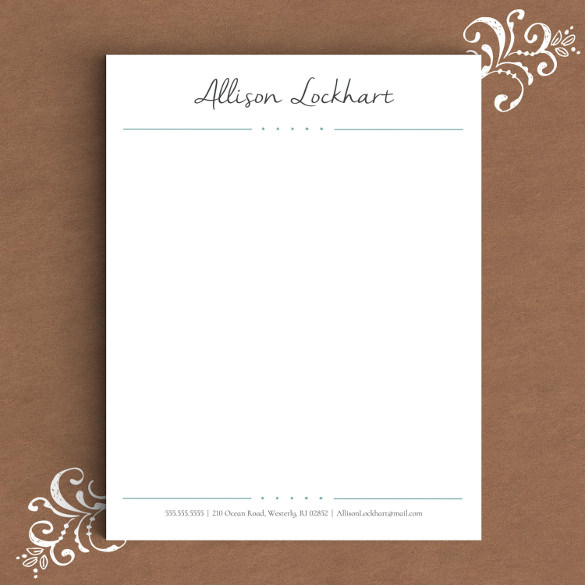Free Personal Letterhead Templates Word free printable letterhead - Free Letterhead Samples