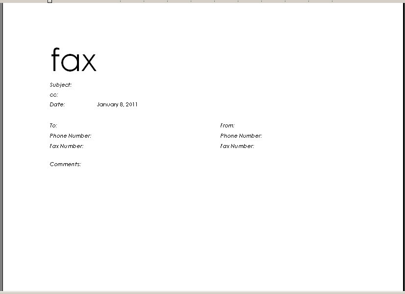 Fax Cover Sheet Template Printable Fax Cover Sheet Templates - fax letter format sample