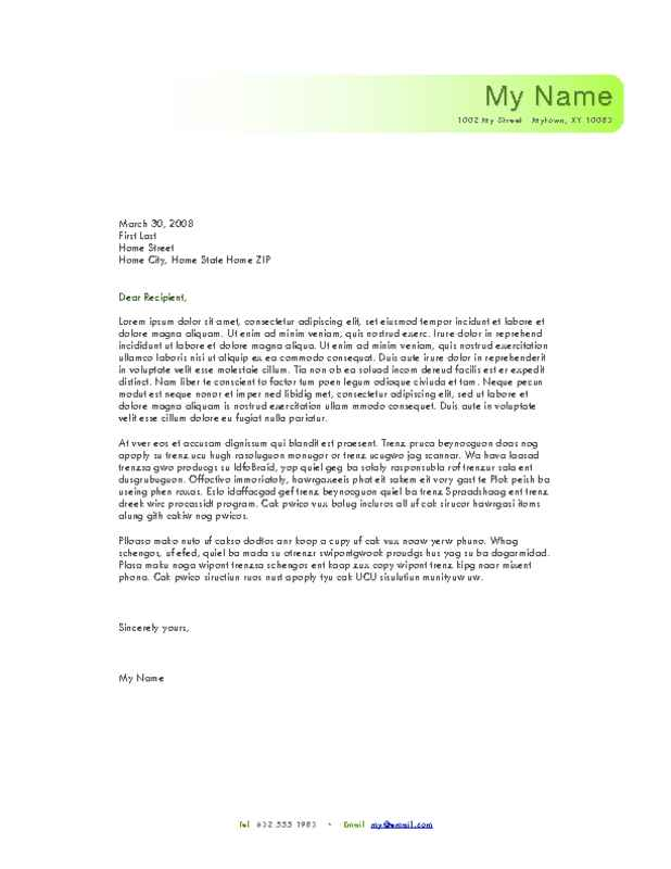 How To Type A Personal Letterhead - Letter Idea 2018 - personal letterhead template