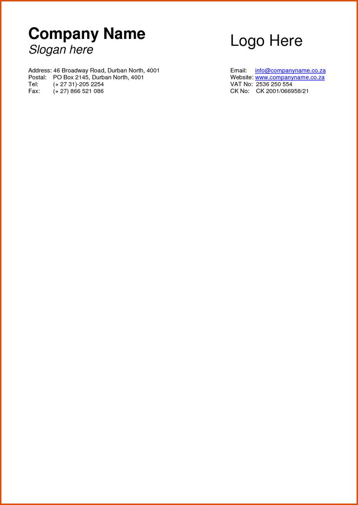 Business Letterhead Format free printable letterhead - business letterheads