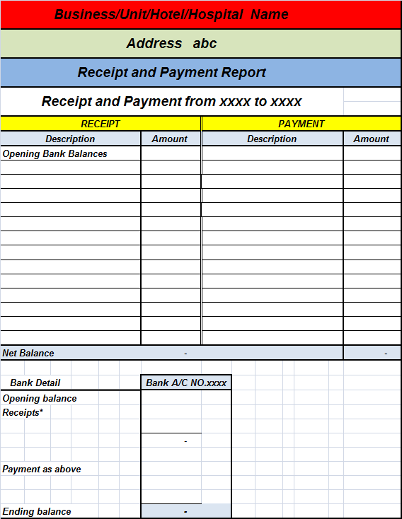 Church Donation Receipt Template Receipt Template How To Write Receipt And Payment Report